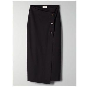 Babaton Button-Up Wrap Midi Skirt | Aritzia NWOT